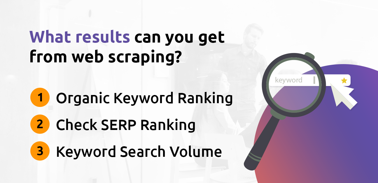 What results can you get from SEO web scraping