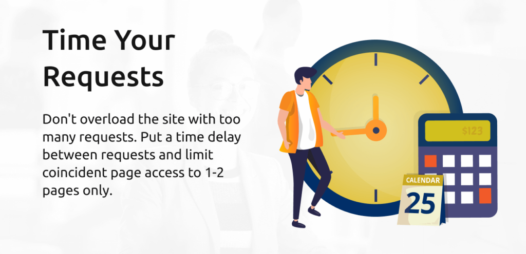 time your web scraping requests